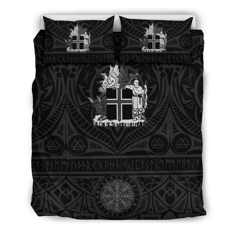 Image of 1stIceland Viking  Bedding Set, Iceland Coat Of Arms Helm Of Awe K4 - 1st Iceland