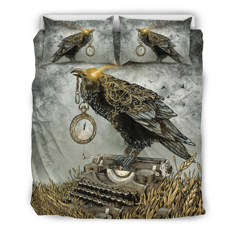 1stIceland Viking Bedding Set, Odin's Raven Clock K5 - 1st Iceland