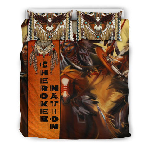 Native American Bedding Set - Riders On The Storm K7 - 1st Iceland