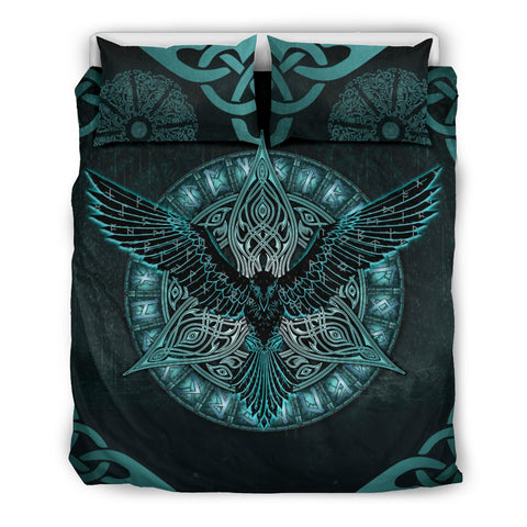 Image of 1stIceland Viking Bedding Set, Odin's Raven Rune Circle K7 - 1st Iceland