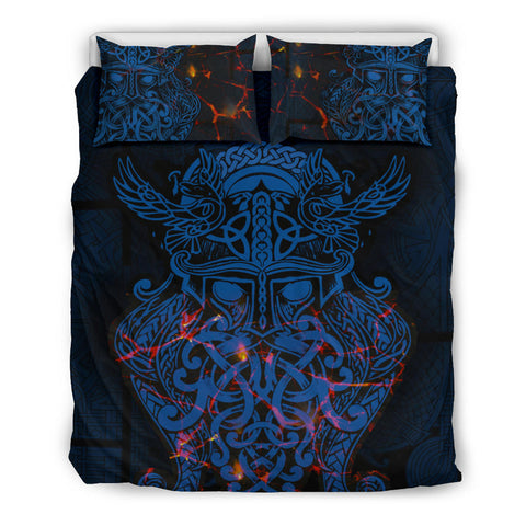 Vikings Bedding Set, Odin The All Father Duvet Cover and Two Pillow Case Th00 - 1st Iceland