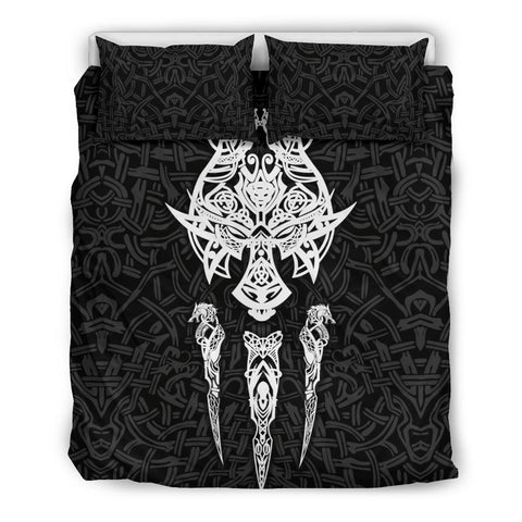 Image of 1stIceland Viking Bedding Set, Fenrir The Vikings Wolves Th00 Black - 1st Iceland