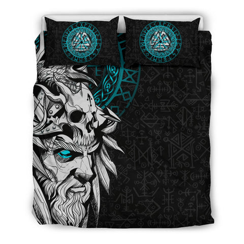 Image of 1stIceland Viking Odin And Raven Turquoise Bedding Set TH12 - 1st Iceland