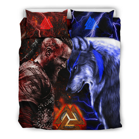 Image of 1stIceland Viking Bedding Set Ragnar and Wolf TH12 - 1st Iceland