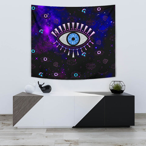 1stIceland Evil Eye Tapestry Simple Style - Black K8 - 1st Iceland