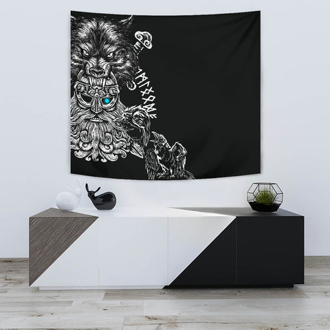 1stIceland Odin Viking Tattoo Tapestry TH12