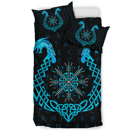 Image of 1stIceland Viking Bedding Set, Helm Of Terror Dragon Rune A1 - 1st Iceland