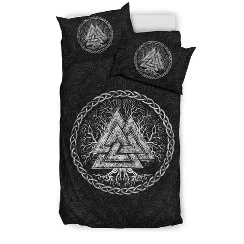 1stIceland Viking Bedding Set, Valknut Tree Of Life K7 - 1st Iceland