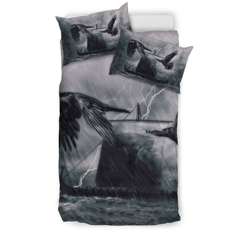 Image of 1stIceland Viking Bedding Set, Drakkar Mjolnir Raven's K4 - 1st Iceland