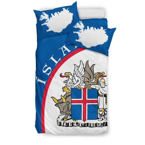 1stIceland Bedding Set, Ísland Coat Of Arms Map TH0 - 1st Iceland