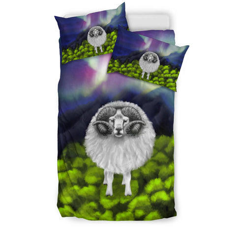 1stIceland Bedding Set, Icelandic Sheep Northern Lights K4 - 1st Iceland