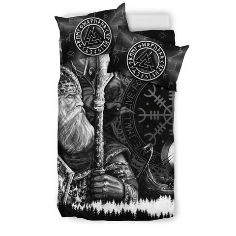 1stIceland Viking Bedding Set, Odin Tattoo Valknut Helm Of Awe K5 - 1st Iceland