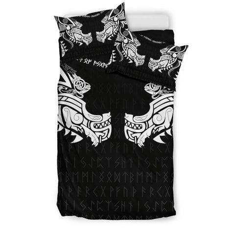 1stIceland Viking Bedding Set, Fenrir Tattoo The Ragnarok K4 - 1st Iceland