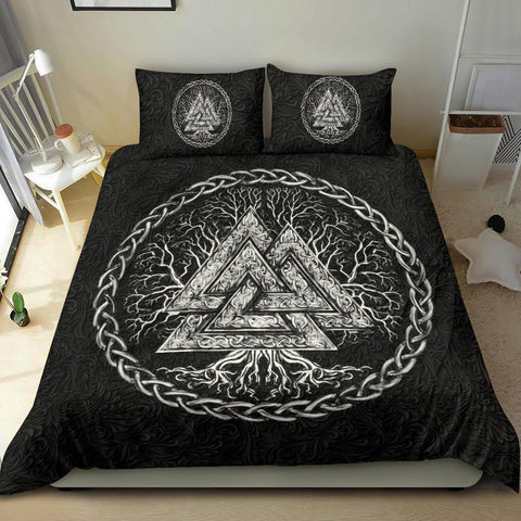 Image of 1stIceland Viking Bedding Set, Yggdrasil Valknut K7 - 1st Iceland