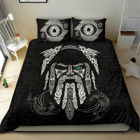 1stIceland Viking Bedding Set, Odin's Eye with Raven K4