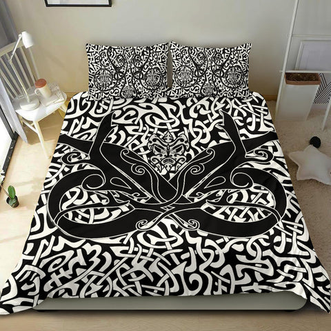 1stIceland Celtic Bedding Set, Celtics Dragon Tattoo Th00 - White - 1st Iceland