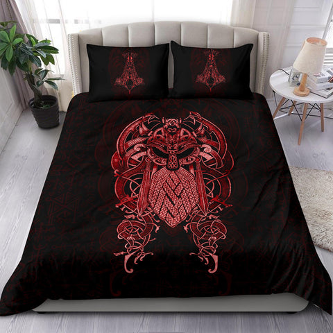 Image of 1stIceland Viking Bedding Set, Odin Mjolnir K4 - 1st Iceland