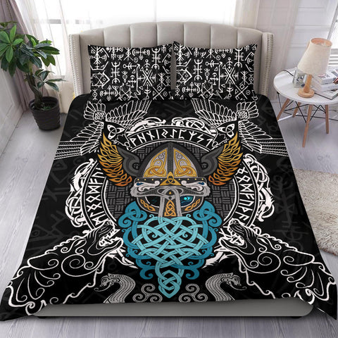 1stIceland Viking Bedding Set, Odin Helmet Valnut Helm Of Awe Odin A7 - 1st Iceland