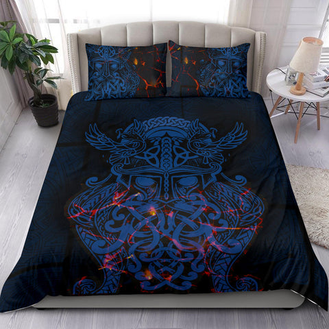 Image of Vikings Bedding Set, Odin The All Father Duvet Cover and Two Pillow Case Th00 - 1st Iceland