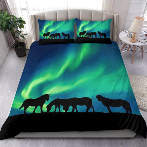 Image of Aurora Icelandic Horse Bedding Set Northern Lights K4 - 1st Iceland