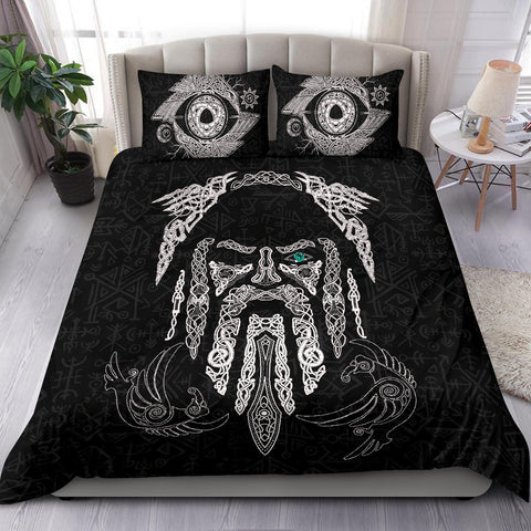 Image of 1stIceland Viking Bedding Set, Odin's Eye with Raven