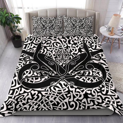 Image of 1stIceland Celtic Bedding Set, Celtics Dragon Tattoo Th00 - White - 1st Iceland