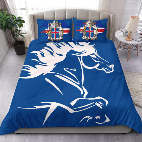 Image of 1stIceland Bedding Set, Icelandic Horse Coat Of Arms K4 - 1st Iceland