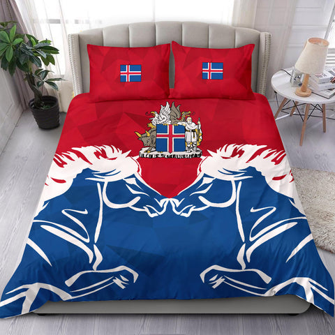 1stIceland Pullover Bedding Set, Horse Coat Of Arms Couple Style K4 - 1st Iceland
