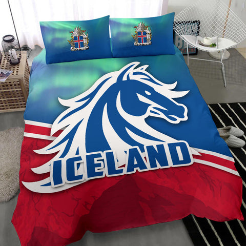 Image of 1stIceland Icelandic Horse Bedding Set Aurora Mountain K4 - 1st Iceland