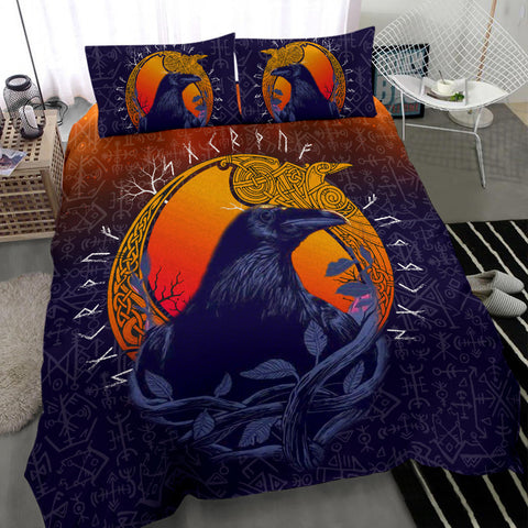 Image of 1stIceland Viking Raven And Moon Bedding Set TH12 - 1st Iceland