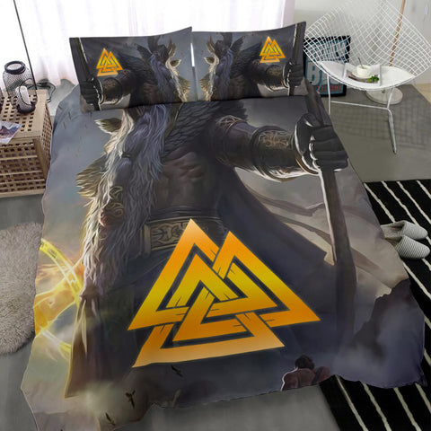 Image of 1stIceland Viking Odin Valhalla 3D Bedding Set Valknut K8 - 1st Iceland