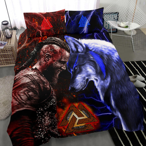 1stIceland Viking Bedding Set Ragnar and Wolf TH12 - 1st Iceland