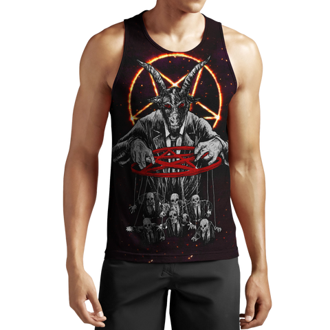 1stIceland Lord Of Death Skull Men's Tank Top TH12 - 1st Iceland
