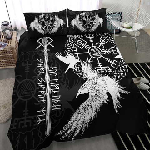 Viking Gungnir Bedding Set-Given To Odin, Myself To Myself Black TH4 - 1st Iceland