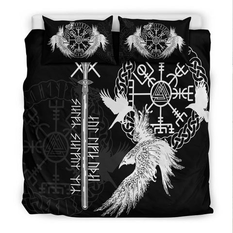 Image of Viking Gungnir Bedding Set-Given To Odin, Myself To Myself Black TH4 - 1st Iceland
