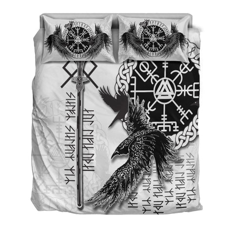 Viking Gungnir Bedding Set-Given To Odin, Myself To Myself White TH4 - 1st Iceland