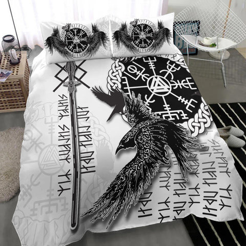 Image of Viking Gungnir Bedding Set-Given To Odin, Myself To Myself White TH4 - 1st Iceland