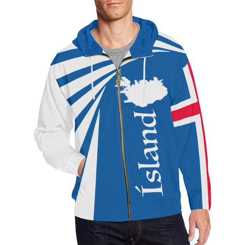 Image of 1stIceland Zip Up Hoodie, Iceland Flag Map Coat Of Arms TH50 - 1st Iceland