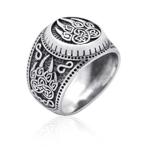 Image of 1stIceland Vikings Ring, Nordic Myth Bear Claw Silver Th00 - 1st Iceland