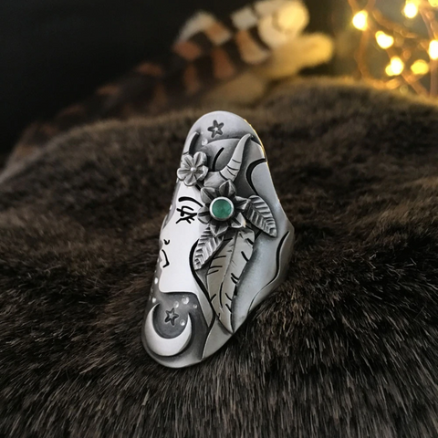 Image of Creative Vintage Goddess Ring TH19 - 1st Iceland