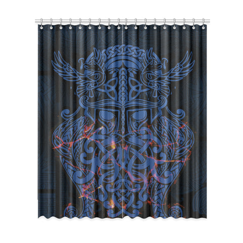 Vikings Window Curtain, Odin The All Father Th00 - 1st Iceland