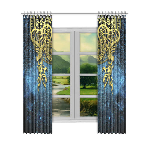 1stIceland Celtic Window Curtain, Celtic Knot Tattoo All Over Design Th00 - 1st Iceland