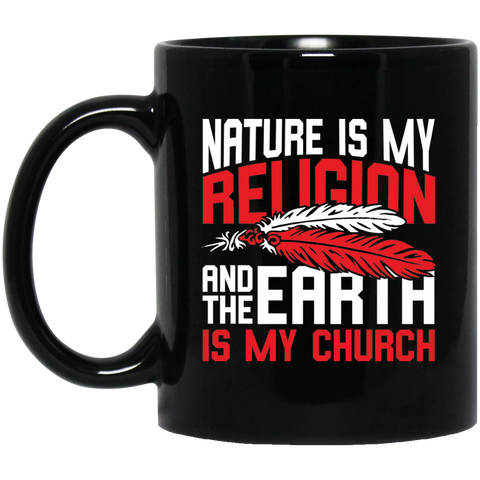 Red Nature Is My Religion Mug K9 - 1st Iceland