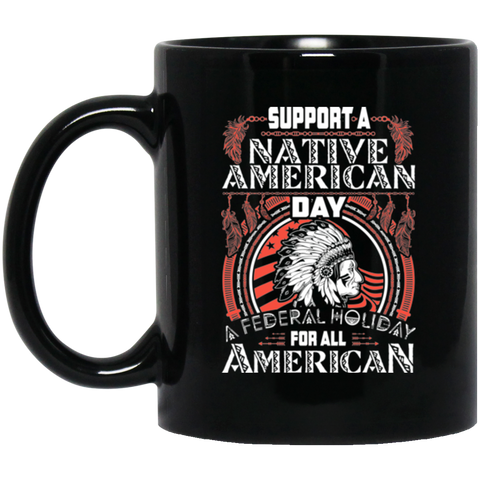 Support A Native American Day Mug K9 - 1st Iceland
