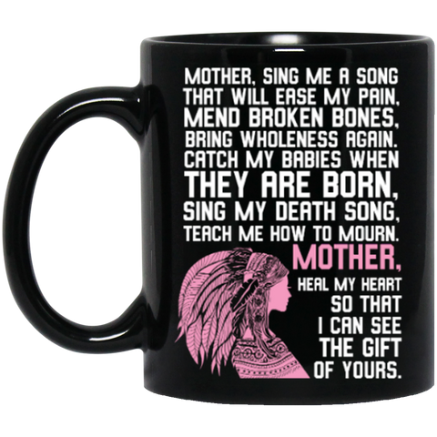 Native Inspired Mother Poem Mug K9 - 1st Iceland