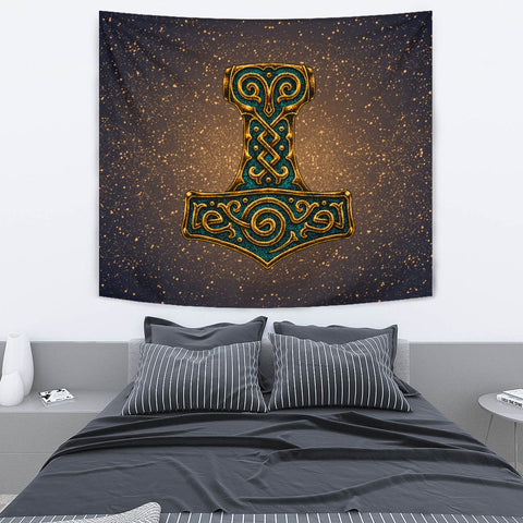 Image of 1stIceland Viking Tapestry , Mjolnir Thor's Hammer A7 - 1st Iceland