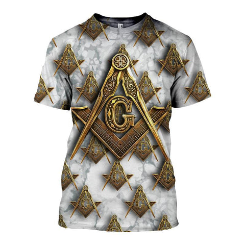 3D T-Shirt Freemasonry Ver.2 TH5 - 1st Iceland
