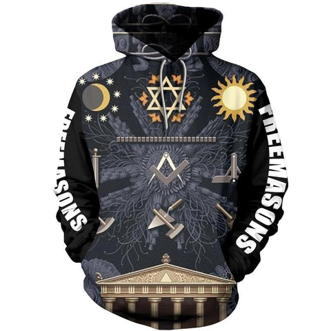 3D All Over Hoodie Freemasonry TH5 - 1st Iceland