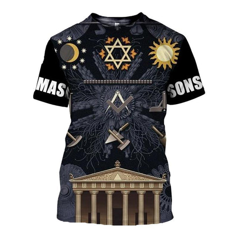 3D T-Shirt Freemasonry TH5 - 1st Iceland