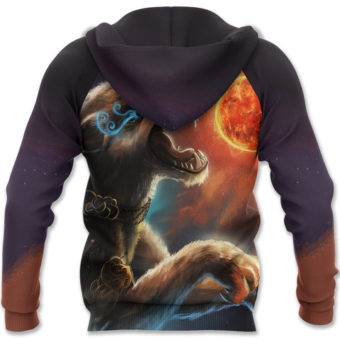Image of 1stIceland Viking Hoodie, Fenrir Norse Wolf K5 - 1st Iceland